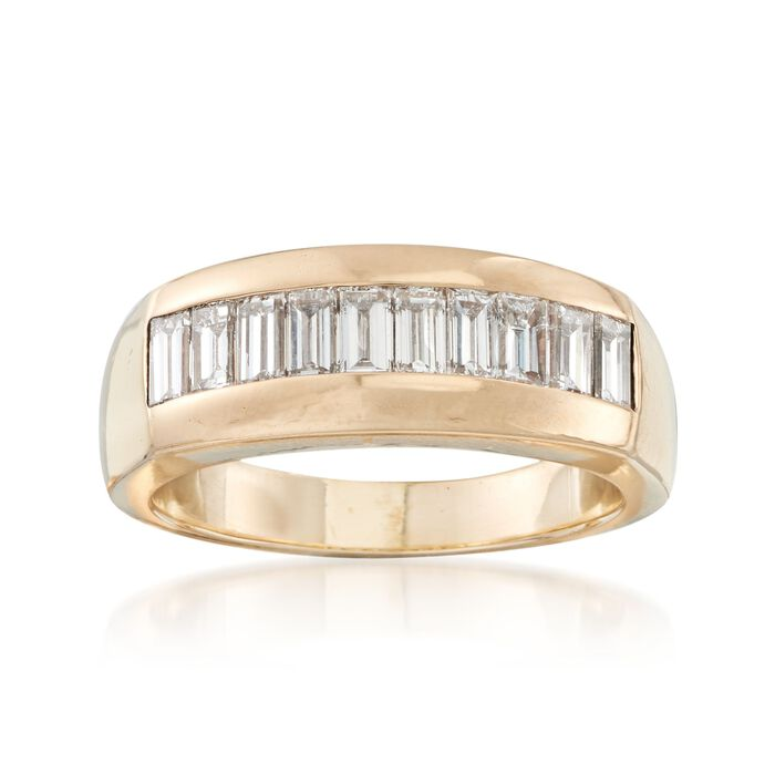 C. 2000 Vintage 1.50 ct. t.w. Channel-Set Diamond Ring in 14kt Yellow Gold. Size 8.25, , default