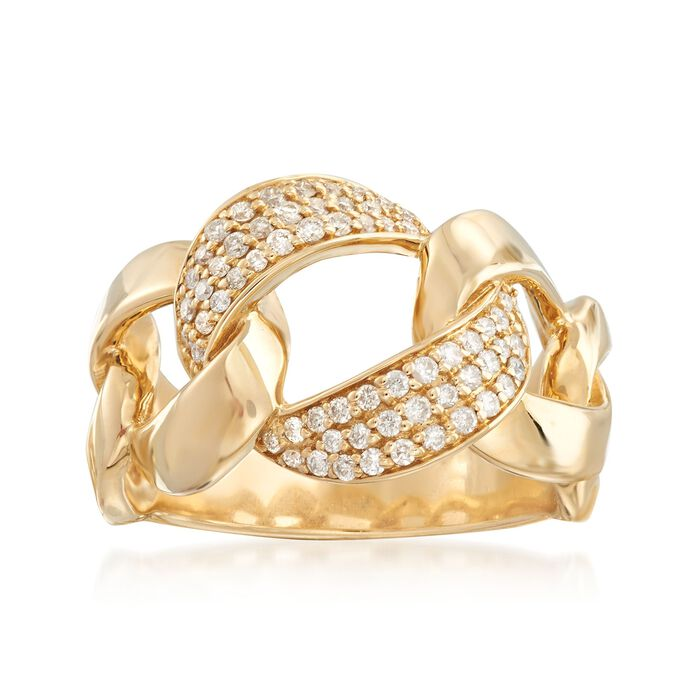 .42 ct. t.w. Diamond Link Ring in 14kt Yellow Gold