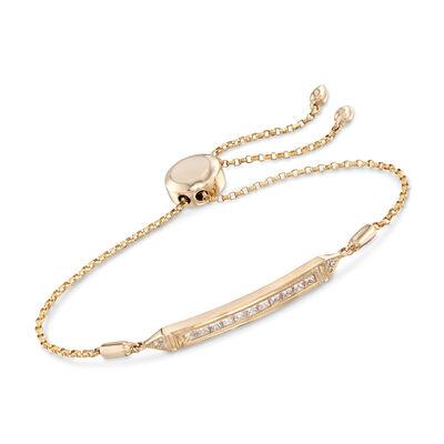 .51 ct. t.w. Diamond Bar Bolo Bracelet in 14kt Yellow Gold, , default