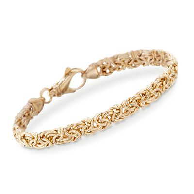 18kt Gold Over Sterling Silver Small Byzantine Bracelet