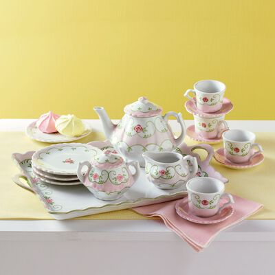 "Child's ""Eloise Floral"" Porcelain Tea Set"