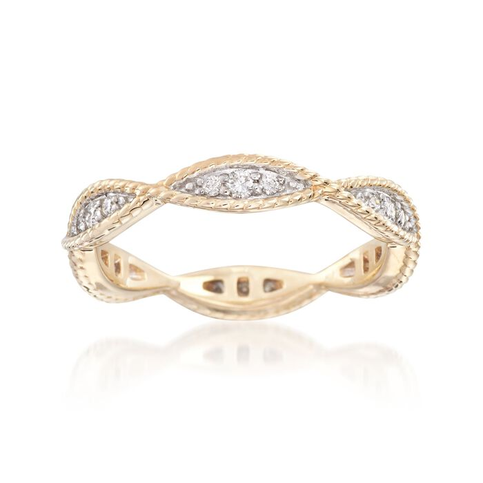 .25 ct. t.w. Diamond Twisted Eternity Band in 14kt Yellow Gold, , default