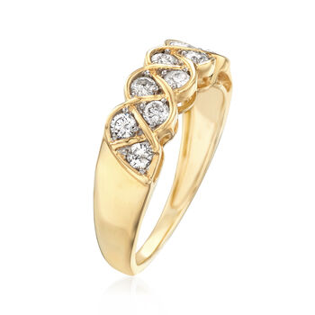 .50 ct. t.w. Diamond Twist Ring in 14kt Yellow Gold, , default