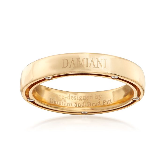 C. 2010 Vintage Damiani and Brad Pitt 18kt Yellow Gold Ring with .15 ct. t.w. Diamonds. Size 7.5