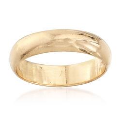C. 1940 Vintage 14kt Yellow Gold Wedding Ring, , default