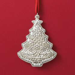 Gorham 2018 Annual Sterling Silver Christmas Tree Ornament, , default