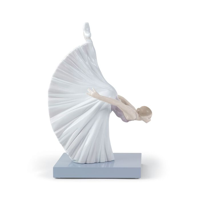 "Facing Downward ""Giselle Arabesque"" Porcelain Figurine by Lladro , , default"