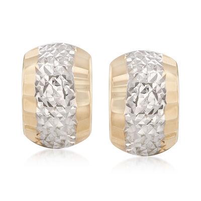 14kt Two-Tone Gold Drop Earrings, , default