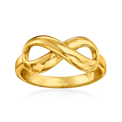 18kt Gold Over Sterling Infinity Ring