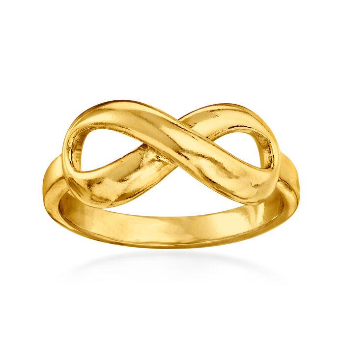 18kt Gold Over Sterling Infinity Ring, , default