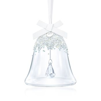 Swarovski Crystal 2017 Annual Crystal Christmas Bell Ornament., , default