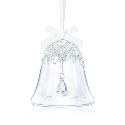 Swarovski Crystal 2017 Annual Crystal Christmas Bell Ornament, , default
