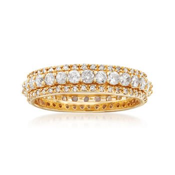 1.50 ct. t.w. Diamond Eternity Band in 14kt Yellow Gold, , default