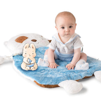 """Bunnies by the Bay """"Skipit Pup"""" Baby 3-In-1 Pillow Play Mat"""