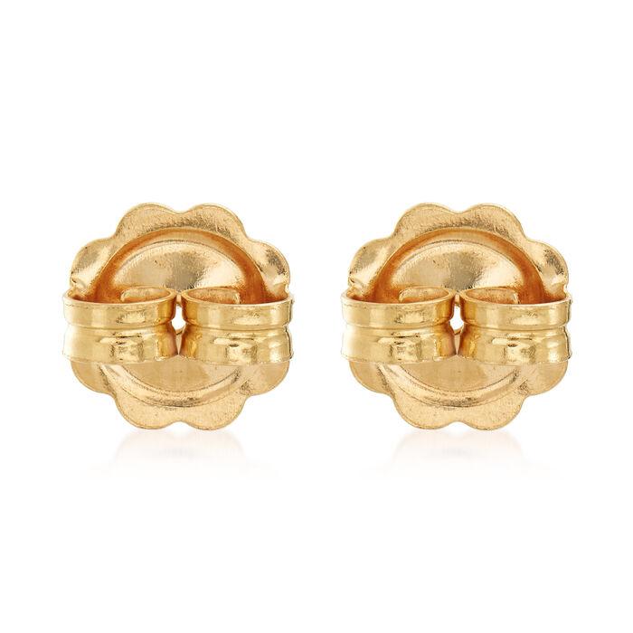 Italian 14kt Yellow Gold X-Large 9mm Earring Backings