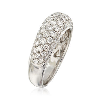 C. 1990 Vintage 1.53 ct. t.w. Diamond Ring in 18kt White Gold. Size 6.5, , default