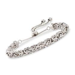 Sterling Silver Byzantine Bolo Bracelet , , default