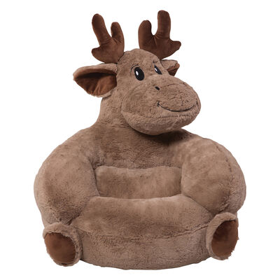 Children's Plush Moose Chair, , default