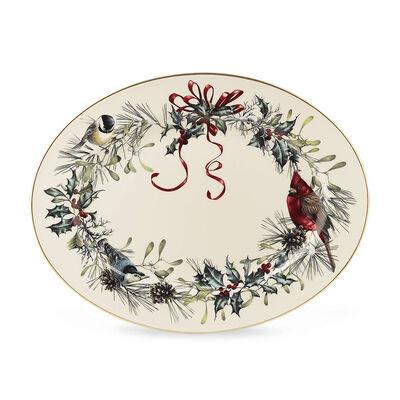 "Lenox ""Winter Greetings"" Oval Platter, , default"