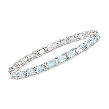 """15.00 ct. t.w. Sky Blue Topaz Tennis Bracelet in Sterling Silver. 7.25"""", , default"""