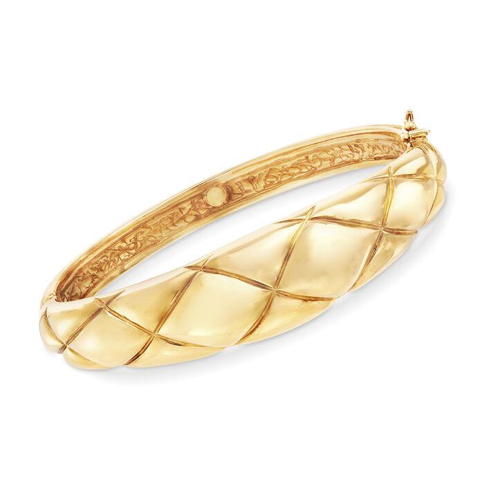 Italian 14kt Yellow Gold Bangle Bracelet, , default