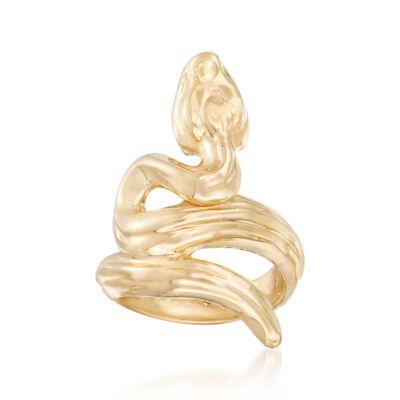 Italian 18kt Yellow Gold Snake Ring, , default