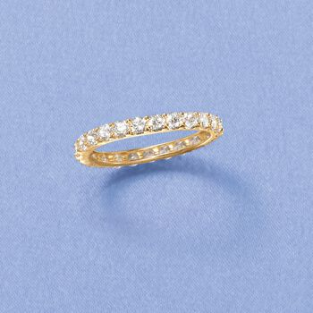 1.25 ct. t.w. CZ Eternity Band in 14kt Yellow Gold, , default