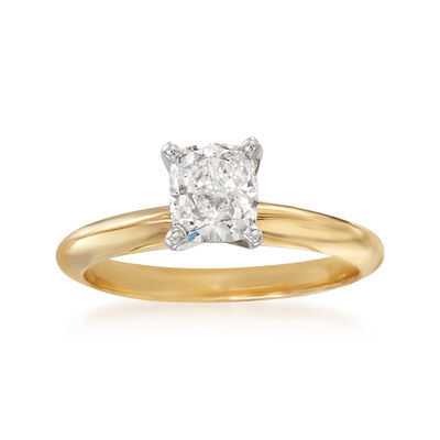 1.00 Carat Certified Diamond Solitaire Ring in 14kt Yellow Gold, , default