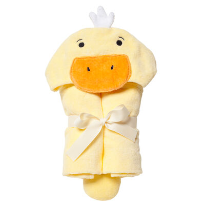Elegant Baby Hooded Duck Bath Towel, , default
