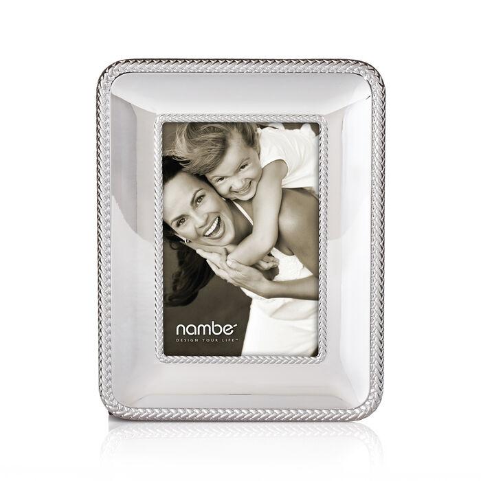 "Nambe ""Braid"" Chrome Plate Frame, , default"