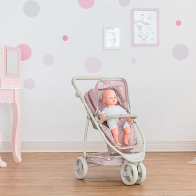 "Child's ""Polka Dot Princess"" 2-In-1 Baby Doll Stroller"
