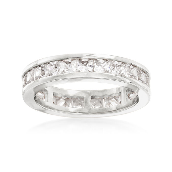 3.00 ct. t.w. Princess-Cut CZ Eternity Band in Sterling Silver, , default