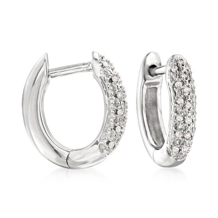 .10 ct. t.w. Diamond Huggie Hoop Earrings