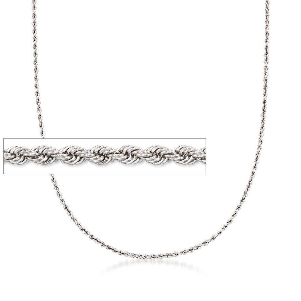 ed3b0ed6f20 2mm Sterling Silver Rope Chain Necklace | Ross-Simons