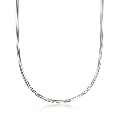 3mm Sterling Silver Snake Chain Necklace, , default