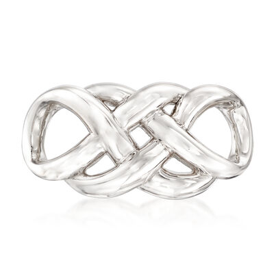 Sterling Silver Entwined Infinity Slide Pendant, , default