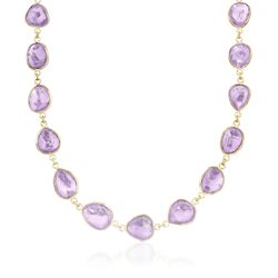 """60.00 ct. t.w. Amethyst Necklace in 14kt Gold Over Sterling Silver. 18"""", , default"""