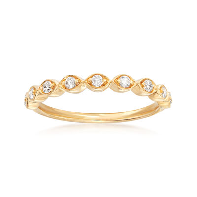 Henry Daussi .17 ct. t.w. Diamond Wedding Ring in 18kt Yellow Gold, , default