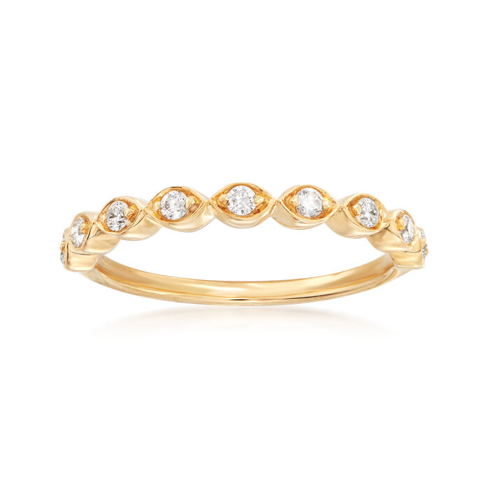 Henry Daussi .17 ct. t.w. Diamond Wedding Ring in 18kt Yellow Gold