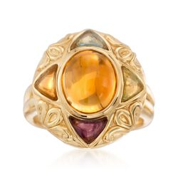 C. 2000 Vintage 2.10 ct. t.w. Multi-Stone Ring in 14kt Yellow Gold. Size 7, , default