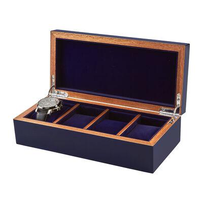 Blue Wooden Watch Box