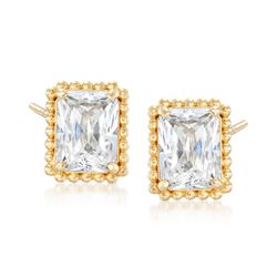 3.50 ct. t.w. CZ Stud Earring in 14kt Yellow Gold, , default