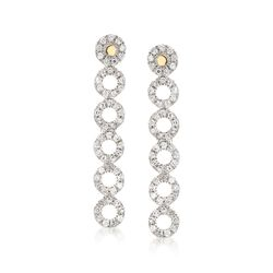 .21 ct. t.w. Diamond Multi-Circle Earrings in 14kt Yellow Gold, , default
