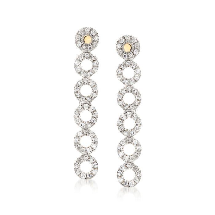 .21 ct. t.w. Diamond Multi-Circle Earrings in 14kt Yellow Gold, , default