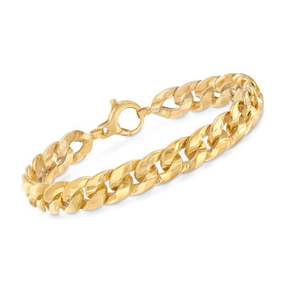 Italian 18kt Yellow Gold Curb-Link Bracelet, , default