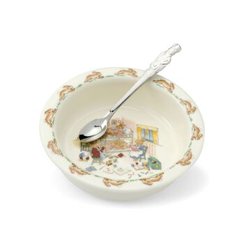 """3-pc. Dinnerware """"Bunnykins"""" Child's Dining Set by Royal Doulton, , default"""