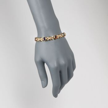 "C. 1990 Vintage Cellino 10.20 ct. t.w. Multi-Stone Bracelet in 18kt Yellow Gold. 7.5"", , default"
