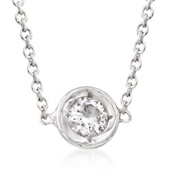 Roberto Coin .10 Carat Diamond Necklace in 18kt White Gold, , default