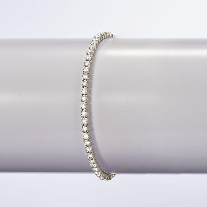 5.00 ct. t.w. CZ Tennis Bracelet in Sterling Silver