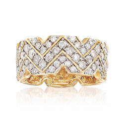 2.20 ct. t.w. Diamond Multi-Row Eternity Ring in 14kt Yellow Gold, , default